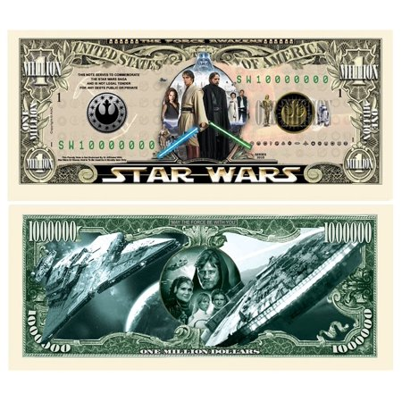 Set Of 10 Limited Edition Star Wars Collectible Million Dollar Bill Special Featuring By American Art Clics