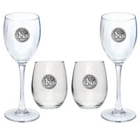 University of Memphis Tigers Goblet Set Stemmed and Stemless Wine Set