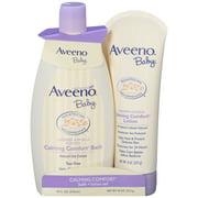 Aveeno Baby Calming Comfort Bath & Lotion Set for Bedtime, 2 Piece Set
