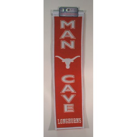 - NCAA Man Cave Banner, University of Texas Longhorns