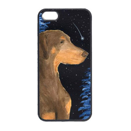 Carolines Treasures SS8462IP5 Starry Night Doberman Cell Phone Cover Iphone 5 - image 1 de 1