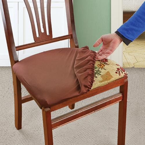 Superb Brown Stretch N Fit Chair Fabric Renewal Cover