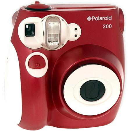 Polaroid 300 Instant Film Camera, Red