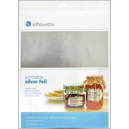 Silhouette Printable Adhesive Foil, 8-1/2