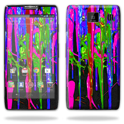 Mightyskins Protective Skin Decal Cover for Motorola Droid Razr Hd & Razr Maxx HD Cell Phone wrap sticker skins Drips