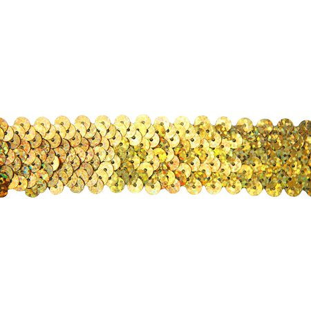 - Threadart Stretch Sequin Trim Roll, 11 yd Length, Available in 18 colors, 2 Widths