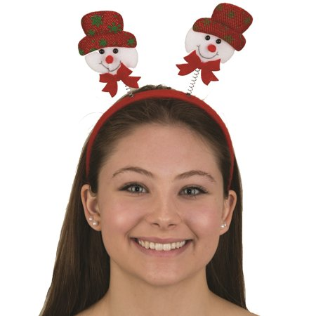 Snowman Boppers Headband Winter Christmas Hat Festive One Size Costume Accessory - Mini Snowman Hats