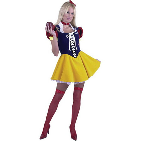 Adult Sexy Deluxe Snow White Costume Charades 1825](Charades Halloween)