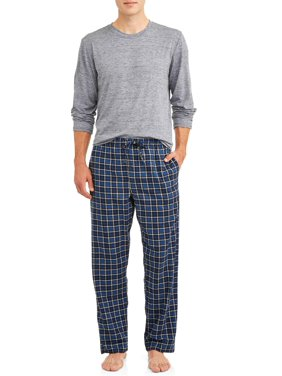 Hanes Men's ComfortSoft Long Sleeve Crew & 100% Cotton Flannel Pant