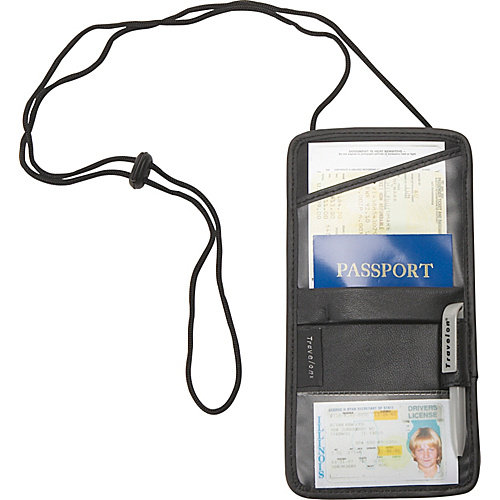 Travelon Travel Security Leather ID and Boarding Pass Holder