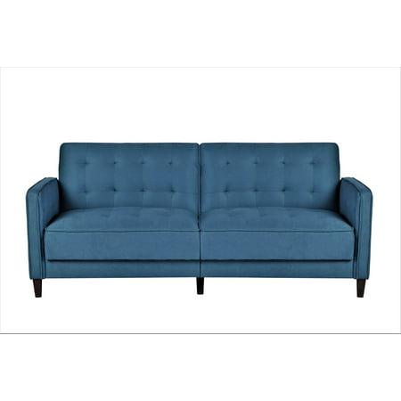 US Pride Furniture Piccolo Tufted Linen Fabric Sofa Bed, Ocean Blue