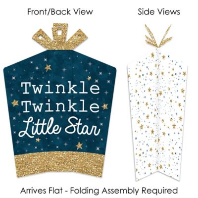 10 Count Big Dot of Happiness Twinkle Twinkle Little Star Table Decorations Baby Shower or Birthday Party Fold and Flare Centerpieces