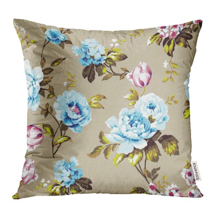 YWOTA Shabby Chic Vintage Roses Tulips and Forget Me Nots Classic Chintz Floral Pillow Cases Cushion Cover 20x20 inch
