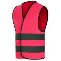 GOGO Child Reflective Vest For Outdoors Sports, Safety Vest, Preschool Uniforms-NeonGreen-L