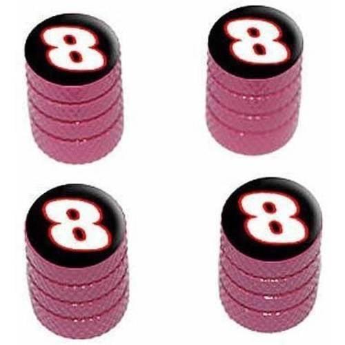 8 Number Eight Tire Rim Wheel Aluminum Valve Stem Caps, Multiple Colors