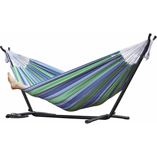 vivere double hammock with stand  bo oasis vivere double hammock with stand  bo oasis   walmart    rh   walmart
