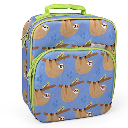 Reusable Pocket (Insulated Durable Lunch Bag - Reusable Meal Tote with Handle and Pockets (Sloths) )