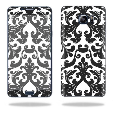 MightySkins Protective Vinyl Skin Decal for Samsung Galaxy Note 5 wrap cover sticker skins Black (Damask Note)