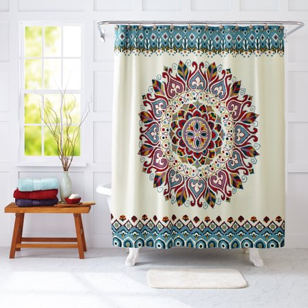 Better Homes And Gardens Medallion Fabric Shower Curtain