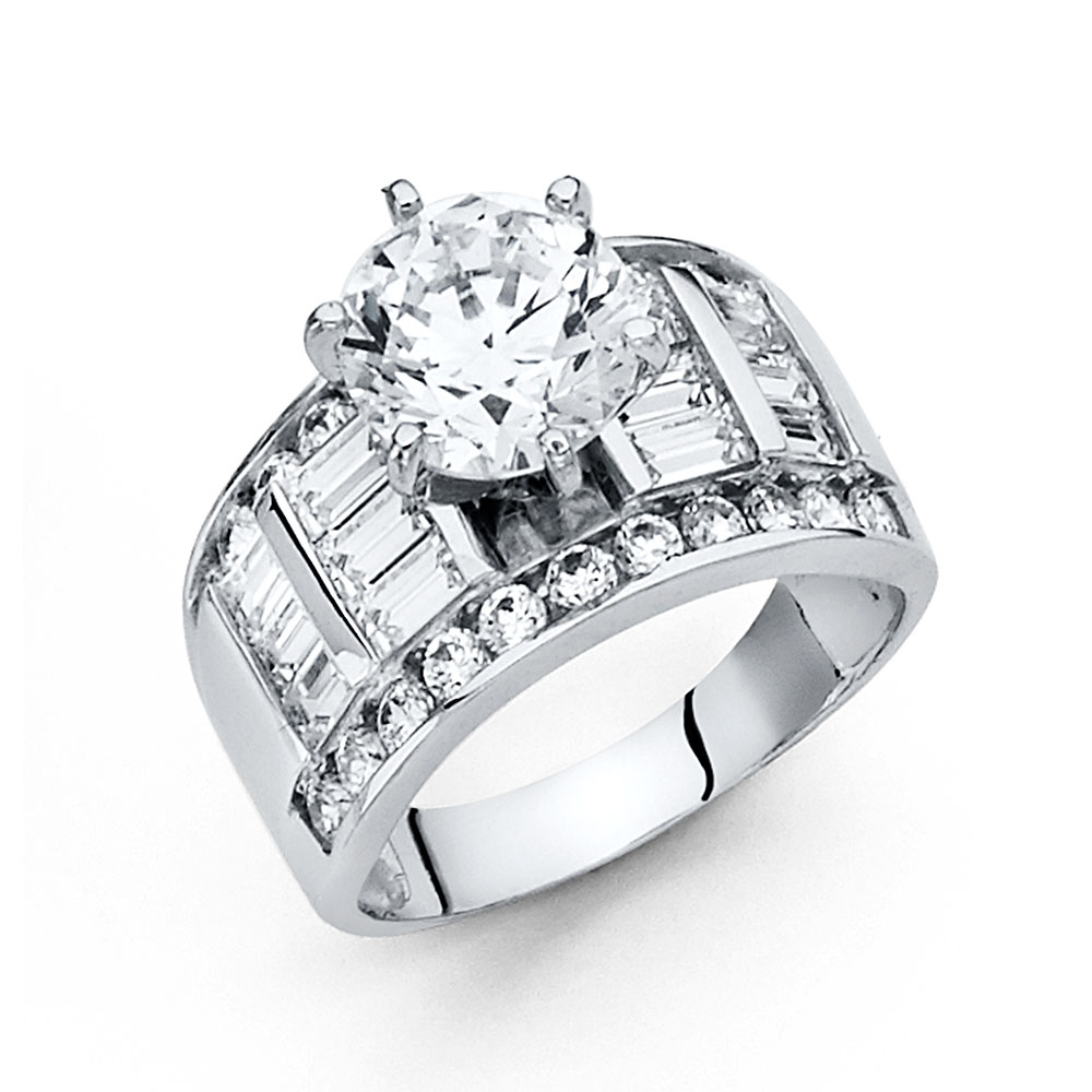 Paradise 14K Solid White Gold 2.75 cttw Polished Cubic Zi...