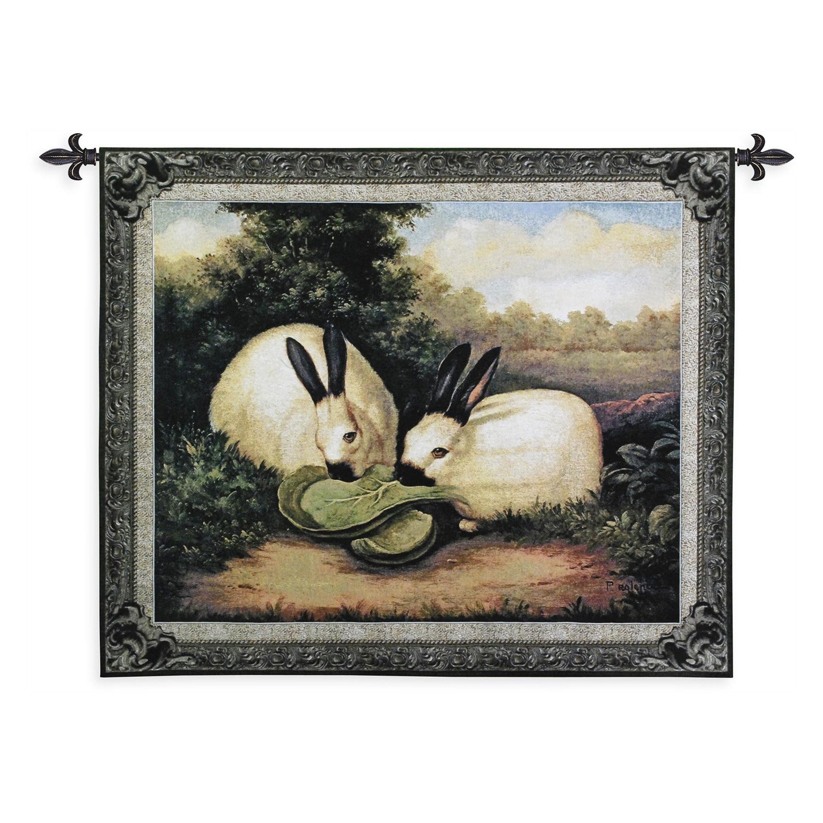 FineArtTapestries 3076-WH Two Himalayan Rabbits Wall Tapestry by Supplier Generic