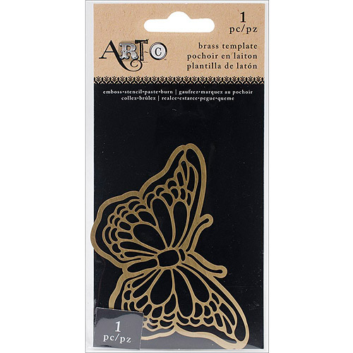 "Momenta Art-C Brass Stencil, Butterfly Mask, 3.5"" x 2"""
