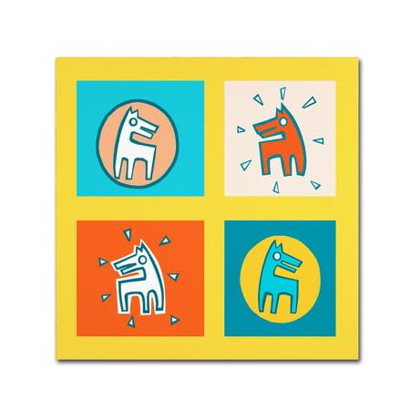 Trademark Fine Art 'Pattern Dogs 1' Canvas Art by Miguel Balbas