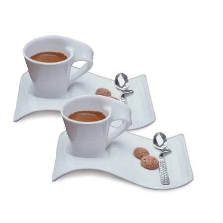VILLEROY AND BOCH USA Villeroy and Boch New Wave 6-piece Caffe Espresso Set (Service for -