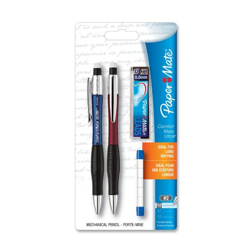 Paper Mate Comfortable Ultra Mechanical Pencil - #2 Pencil Grade - 0.5 Mm Lead Size - Assorted Barrel - 2 / Pack (1738795)