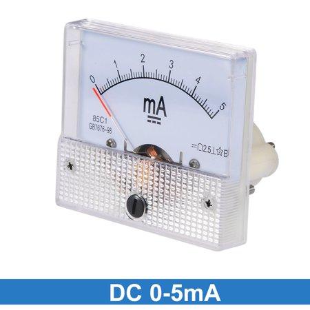 85C1 Analog Current Panel Meter DC 5mA Ammeter Ampere Tester Gauge 1 PC