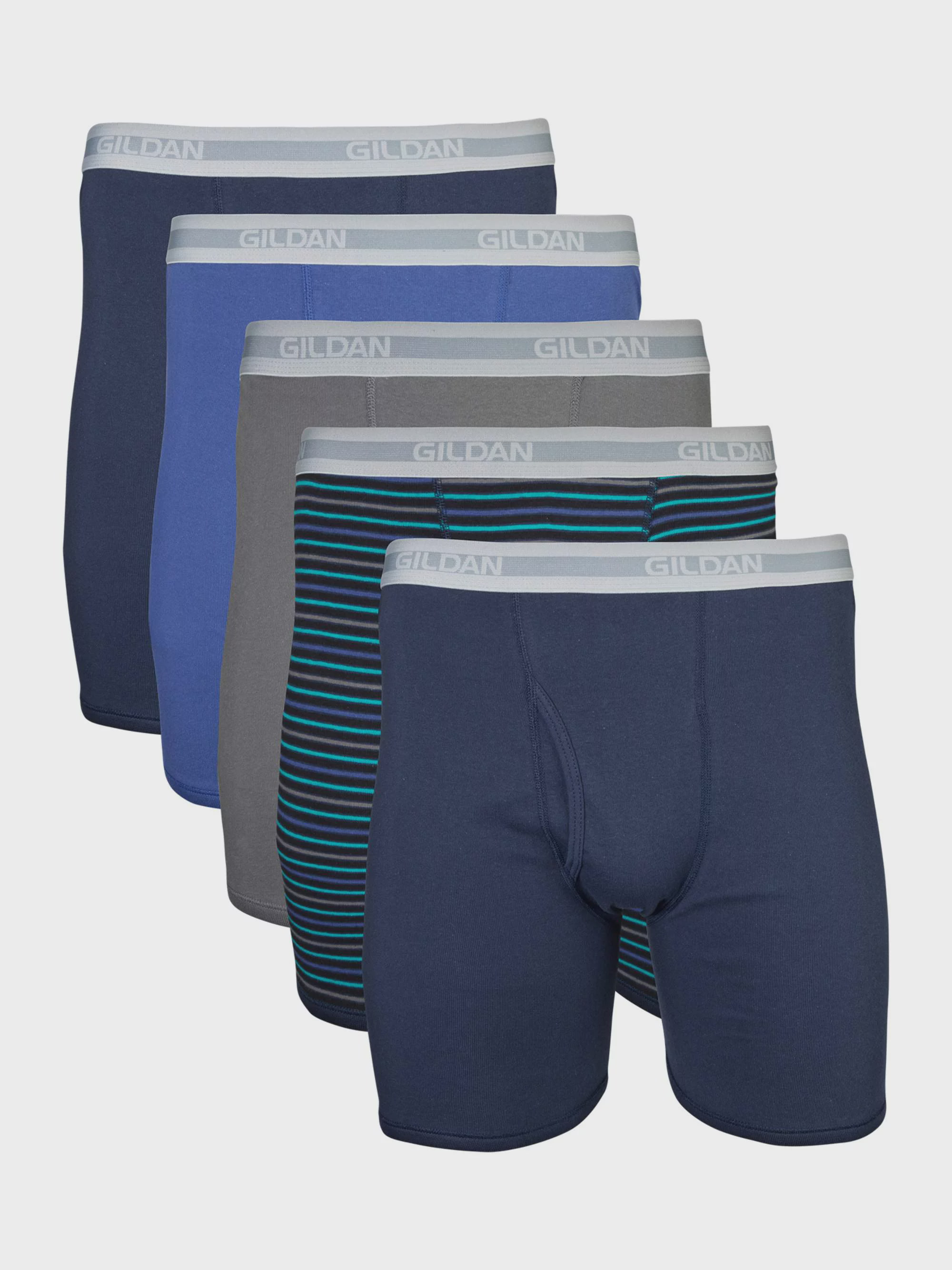 Ocean Secret Mens Underwear Boxer Briefs Cotton Mens Underwear Pack Fly Pouch Pack of 5 M