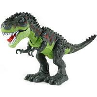Children's Educational Giant Electric Tyrannosaurus Luminous Walking Dinosaur Toy Green