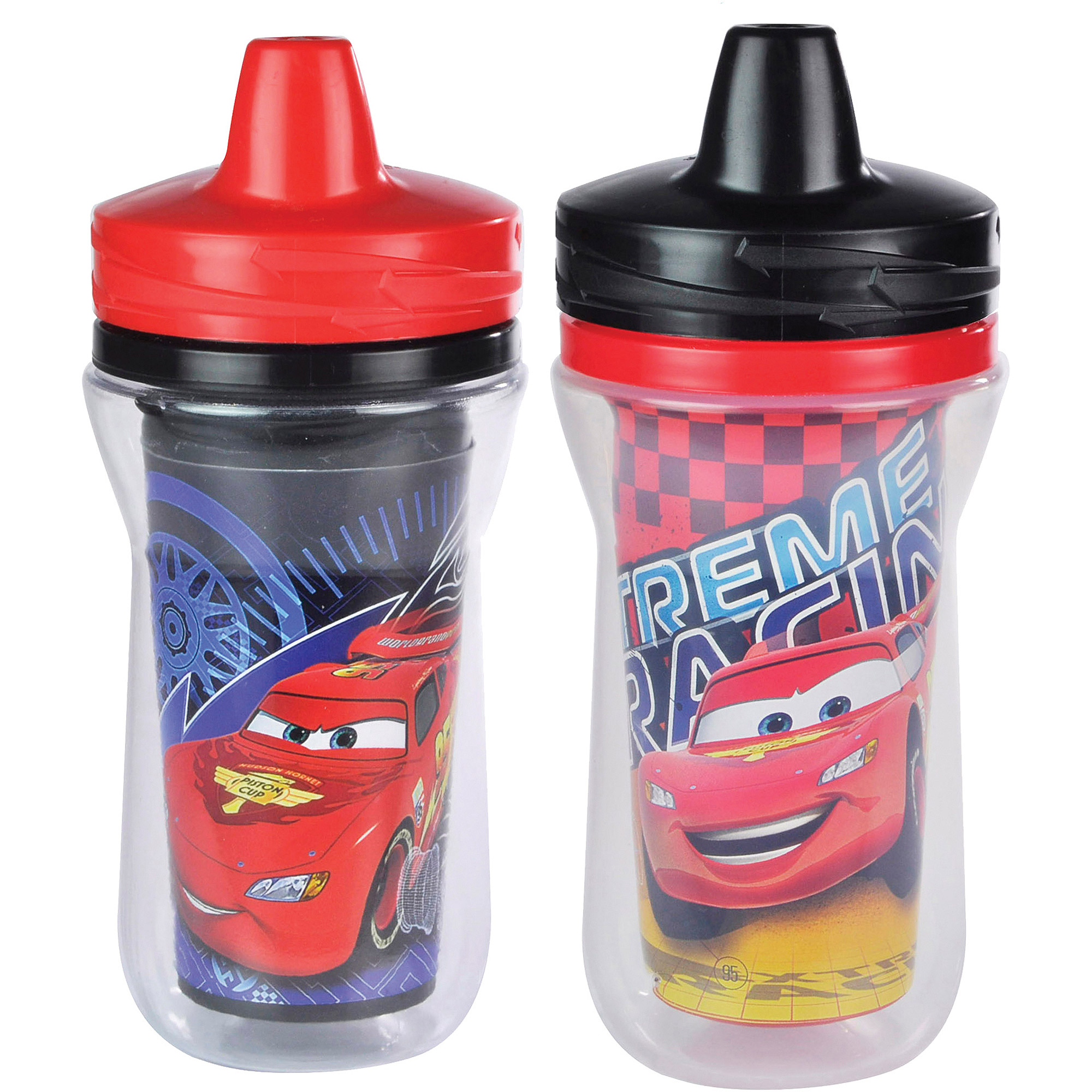 The First Years Disney/Pixar Cars Insulated Sippy Cup with One Piece Lid, BPA-Free - 9 oz, 2 pack