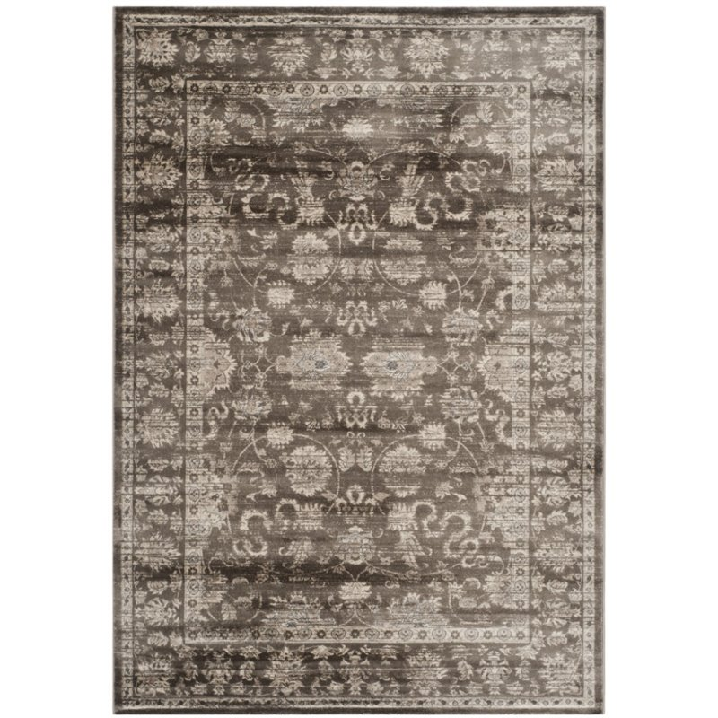 Hawthorne Collection 3' X 5' Power Loomed Rug in Brown and Ivory - image 3 of 3