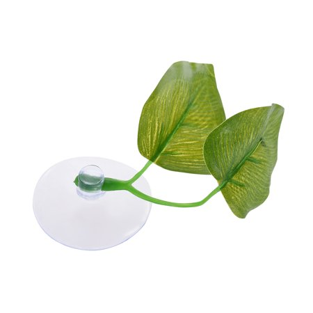 Artificial Plant Leaf Betta Hammock Fish Rest Bed Tropical Saltwater Fish Aquariums Supplies Including 2 Leaves - image 1 de 5