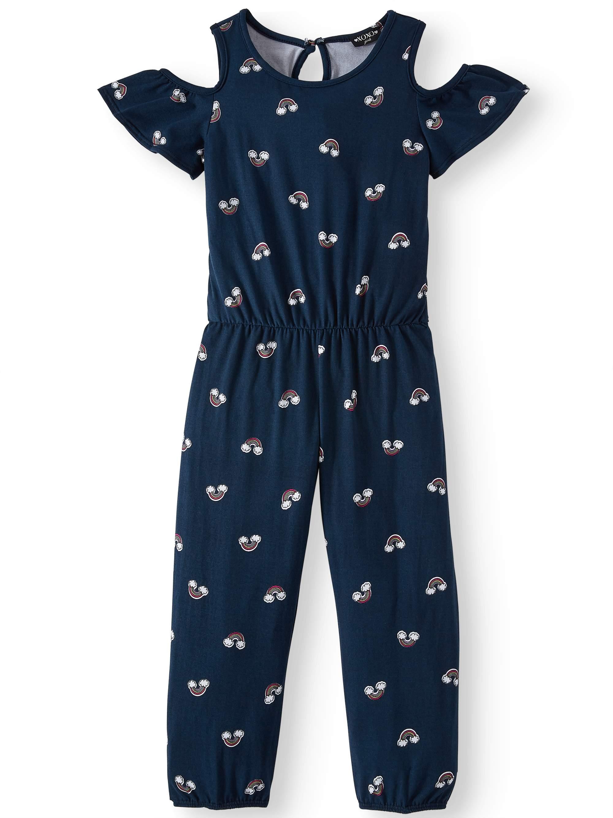 Cold Shoulder Printed Yummy Jumpsuit (Little Girls & Big Girls)