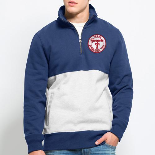 Texas Rangers '47 Coastal Quarter-Zip Pullover Sweatshirt - Royal