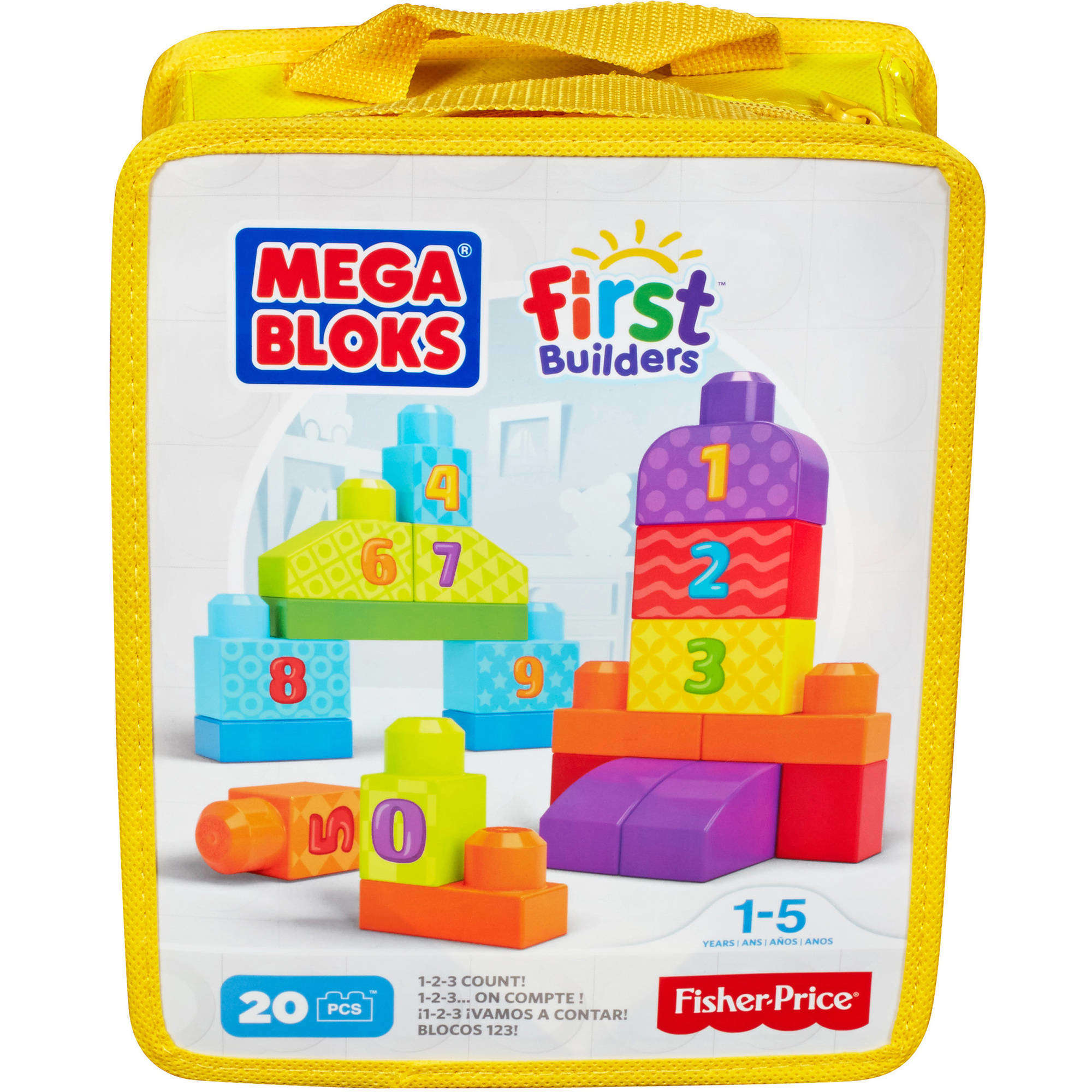 Mega Bloks First Builders 1-2-3 Count Playset by Mega Bloks
