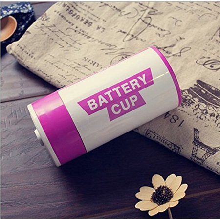 304 Stainless Steel Top - The 304 Stainless Steel Large Batteries Tank Cup As A Creative Gift Orange Color:Rose Red