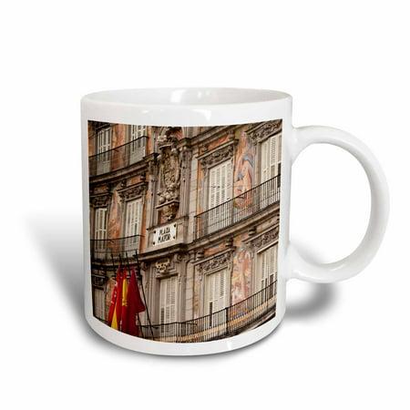 3dRose Spain, Madrid, Plaza Mayor, building detail - EU27 WBI0184 - Walter Bibikow - Ceramic Mug,