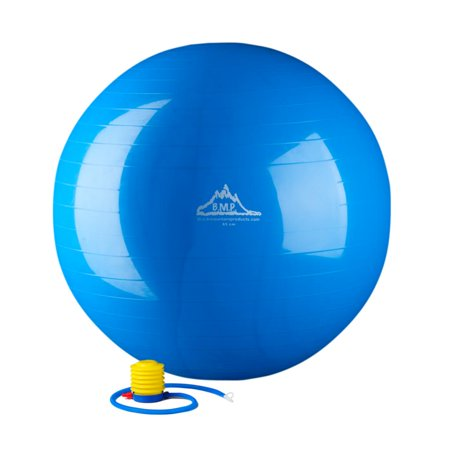 Black Mountain Products 2000lbs Static Strength Exercise Stability Ball with Pump, 45cm Blue