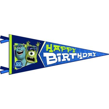 Monsters University Inc. Happy Birthday Banner Pennant (1ct)