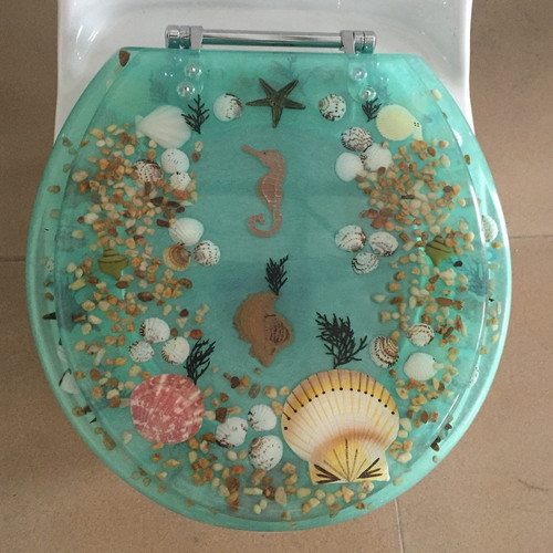 Daniels Bath Sea Treasure Elongated Toilet Seat