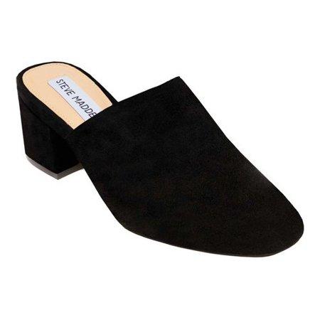 7d72ff3fe62 women's steve madden notch block heel mule