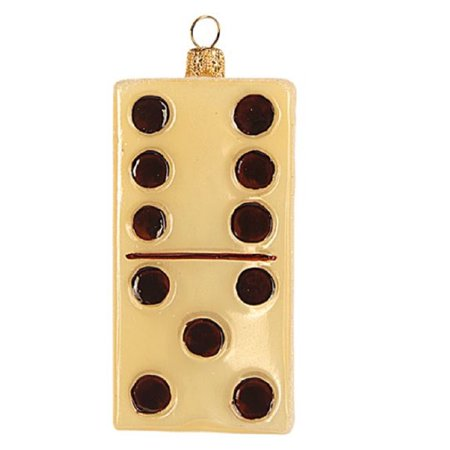 Domino Polish Glass Christmas Tree Ornament Game Dominoes Toy Decoration