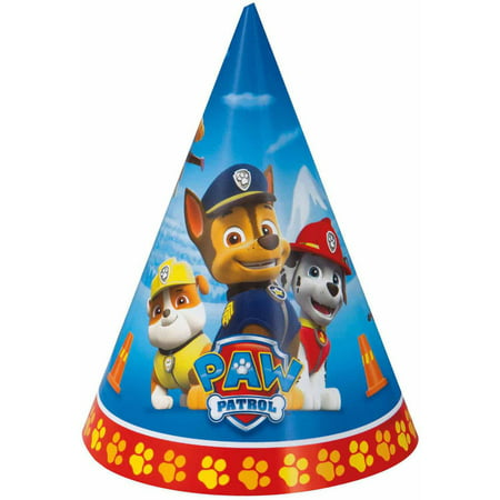 PAW Patrol Party Hats, 8ct