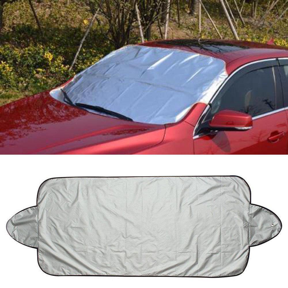 Outtop Car Snow Ice Protector Visor Sun Shade Fornt Rear Windshield Cover Block Shields