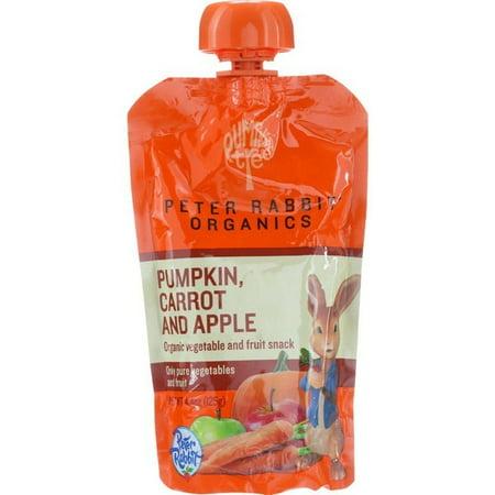 Pumpkin Fruit (Peter Rabbit Organics Baby Food - Organic - Vegetable And Fruit Puree - Pumpkin Carrot And Apple - 4.4 Oz - Pack of)