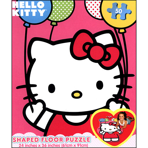 Hello Kitty 50 Piece Floor Puzzle, Puzzles by Cardinal by Cardinal