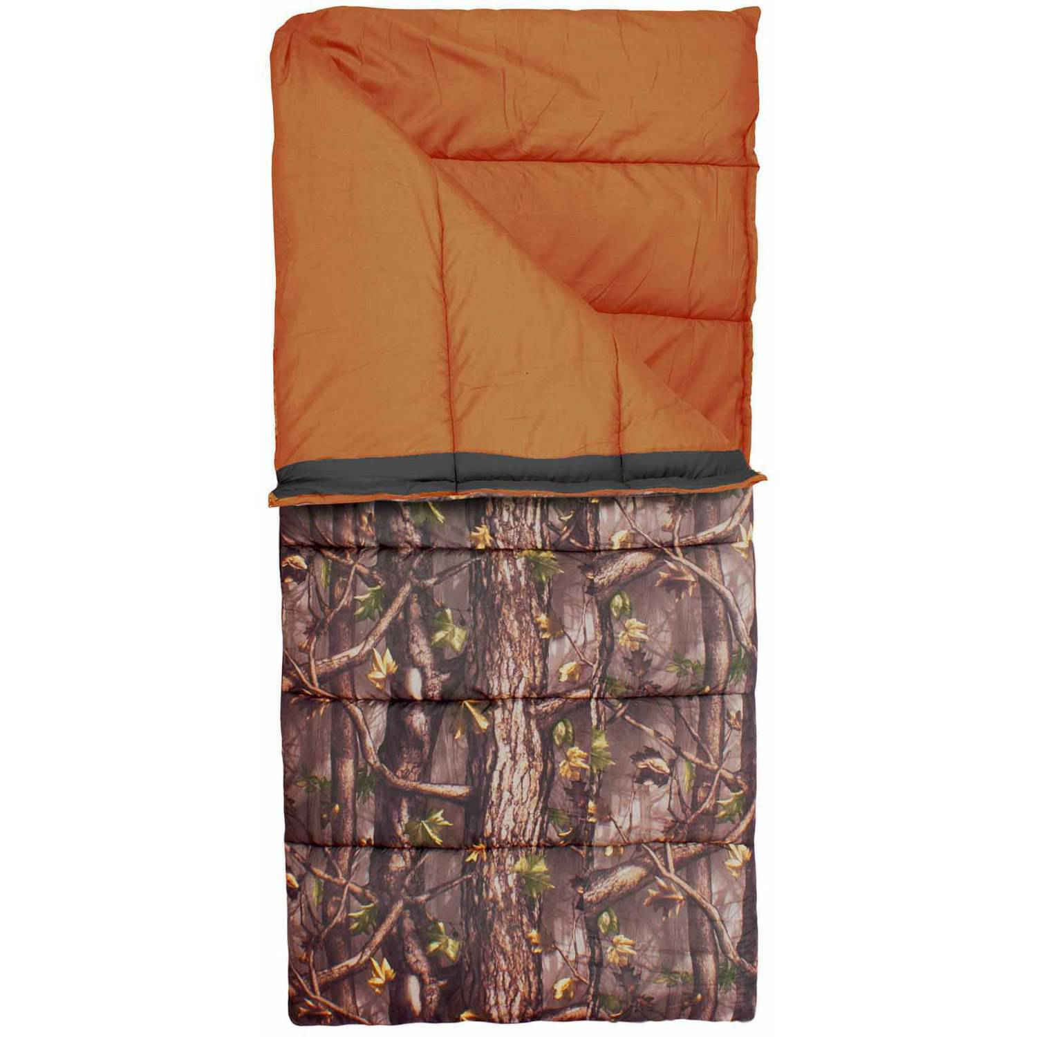 Exxel Outdoors Youth Outdoorsman 25-35 Degrees Sleeping Bag, Camo